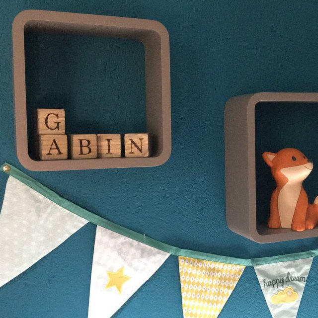 Personalized gray blocks