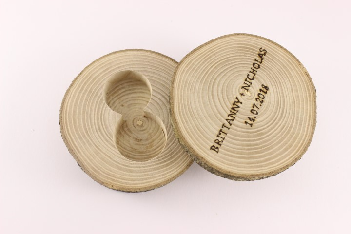 Ash Wood Wood Ring Holder